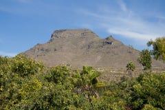 Een berg op Zuid-Tenerife Stock Foto