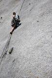 een bergbeklimmings barst Stock Fotografie