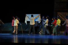Een bericht postte Jiangxi-opera een weeghaak Stock Foto's