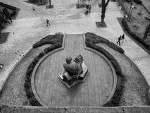 Een beroemd monument in de stad van Kiev stock afbeelding