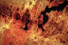 Een beschadigd en roestig golfstaal abstract beeld als achtergrond Royalty-vrije Stock Foto