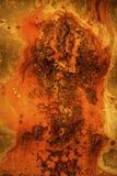 Een beschadigd en roestig golfstaal abstract beeld als achtergrond Royalty-vrije Stock Fotografie