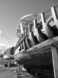 Een beschadigde boot Royalty-vrije Stock Foto