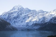 Een Bevroren Woestenij in Nieuw Zeeland stock foto
