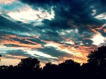 Een bewolkte hemel Stock Afbeelding
