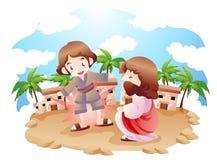 Een bijbelse uitdrukking stock illustratie
