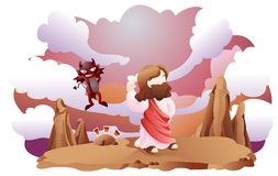 Een bijbelse uitdrukking Stock Foto