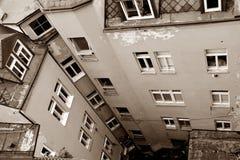 Een binnenplaats in Karlovy varieert royalty-vrije stock afbeeldingen