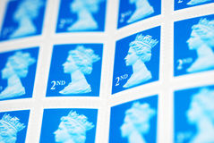 Een blad van Postzegels royalty-vrije stock foto