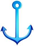 Een blauw anker stock illustratie