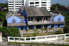 Een blauw huis Stock Afbeeldingen