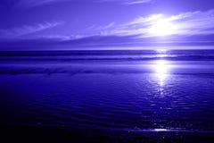Een blauw OceaanZeegezicht Stock Afbeelding