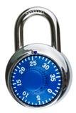Een blauw slot van het combinatiestootkussen Royalty-vrije Stock Afbeelding