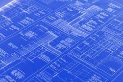 Een blauwdruk Stock Afbeelding