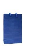Blauwe document het winkelen zak op wit Royalty-vrije Stock Afbeelding