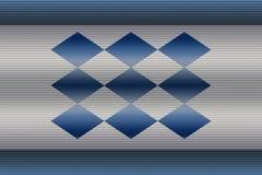 Een blauwe en bruine achtergrond met explosiepatroon Stock Afbeelding