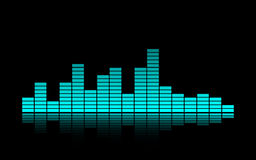 een Blauwe Muziekequaliser Royalty-vrije Stock Afbeelding