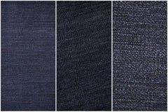 Een blauwe sjofele dichte omhooggaande reeks van de jeanstextuur Royalty-vrije Stock Afbeelding