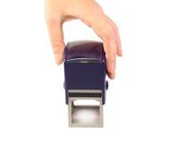 Een blauwe zegel Royalty-vrije Stock Foto's