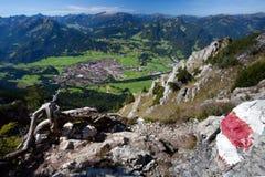 Een blik aan Oberstdorf in Duitsland Royalty-vrije Stock Afbeelding