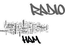 Een Blik in Ham Radio Word Cloud Stock Fotografie