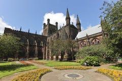 Een blik op de Kathedraal van Chester, Cheshire, Engeland stock afbeeldingen