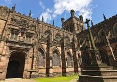 Een blik op de Kathedraal van Chester, Cheshire, Engeland Royalty-vrije Stock Fotografie