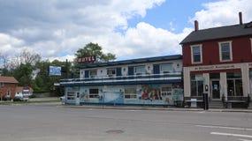 Een blik op een klein motel stock foto