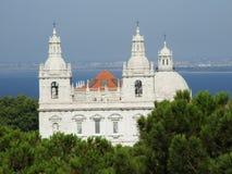 Een blik van Heilige Jorge Castle Royalty-vrije Stock Foto's