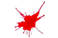 Een bloedplons royalty-vrije stock afbeeldingen