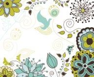 Een bloemen en Achtergrond van de Aard voor Uw Tekst Stock Foto