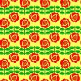Een bloemen retro naadloos patroon. Stock Fotografie