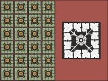 Een bloemenkrommenpatroon royalty-vrije stock afbeeldingen