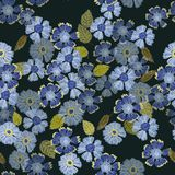 Een Bloemenpatroon van de Herhalingsdruk van Humeurige Kleuren in Maagdenpalmen stock illustratie