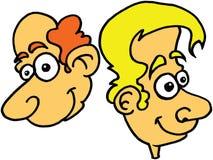 Een blonde Mens en Rode Haired Mens Balding Stock Illustratie