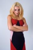 Een blonde met een houding Stock Fotografie