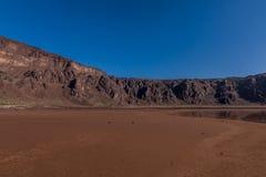 Een bodem van de caldera van de Al Wahbah-krater, Saudi-Arabië royalty-vrije stock fotografie