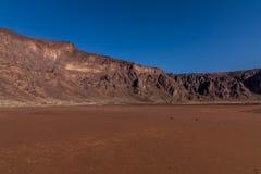 Een bodem van de caldera van de Al Wahbah-krater, Saudi-Arabië stock fotografie