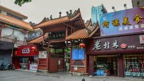 Een Boeddhistische tempel in Nanning, China royalty-vrije stock foto
