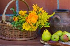 Een boeket van gele bloemen Stock Afbeelding