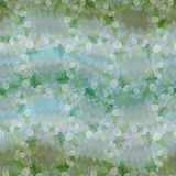 Een boeket van madeliefje bloeit - bloemen, bladeren op waterverfachtergrond Collage van bloemen, bladeren op een waterverfachter vector illustratie