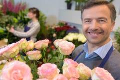 Een boeket van rozen stock afbeelding