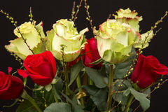 Een boeket van rozen Royalty-vrije Stock Afbeeldingen