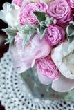Een boeket van rozenpioenen Stock Foto's