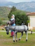 Een Turks straatpark met beeldhouwwerken Stock Afbeelding