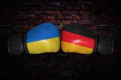 Een bokswedstrijd tussen de twee landen Royalty-vrije Stock Fotografie