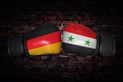 Een bokswedstrijd tussen de twee landen Royalty-vrije Stock Afbeelding