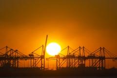 Een boog voor een het plaatsen zon. Royalty-vrije Stock Foto