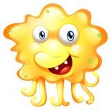 Een boos geel monster stock illustratie