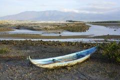Een boot en moutain Royalty-vrije Stock Foto